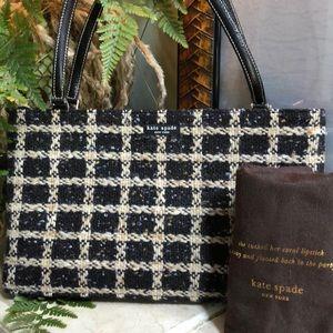 Kate Spade Italian Made Tweed Handbag (like new)